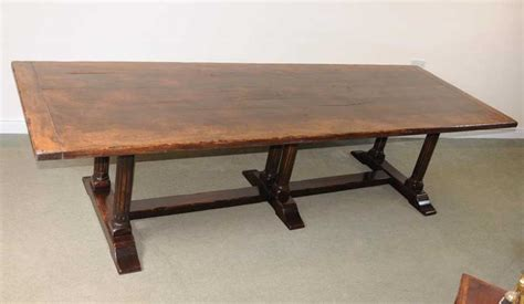 Beachy Kitchen Table Large Italian Refectory Table Wood Farmhouse Kitchen Trestle Dining Ebay