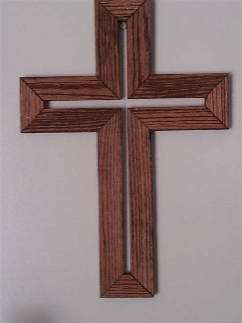 Handmade Cross - handmade wooden cross wall hanger