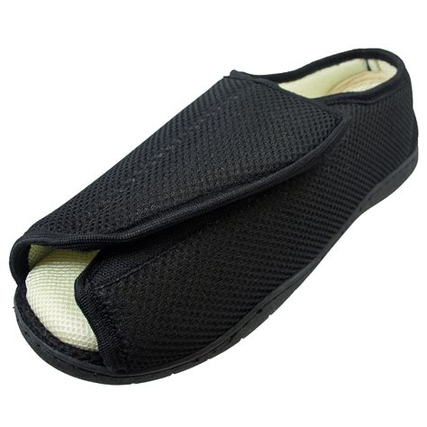 mens slippers wide mens wide fitting touch fastening easy