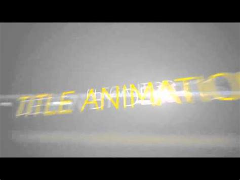 After Effects Template 181 Title Animations Youtube After Effects Title Animation Templates