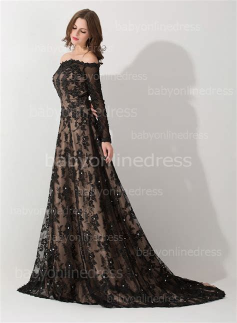 New Sexy Eevning Dresses off the Shoulder Long Sleeve