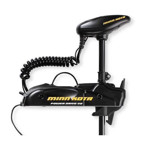 min kota trolling motors minn kota powerdrive v2 55pd 12v 55 lb 48 quot bow mount