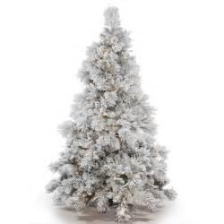 Home Goods Holiday Decor vickerman flocked white on green pvc 6 5 foot alberta