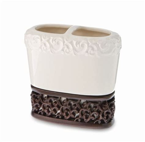 springmaid bathroom accessories springmaid filigree toothbrush holder walmart ca