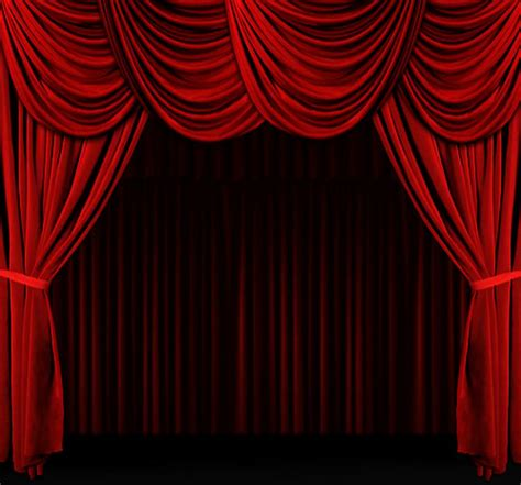 red curtain stage red velvet curtains furniture ideas deltaangelgroup