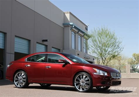 nissan maxima rims 2012 2012 nissan maxima with 22 quot avenue a601 in chrome wheels