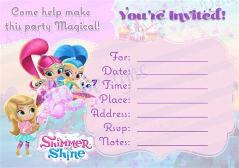 printable jasmine birthday invitations instant download shimmer and shine fill in the blank