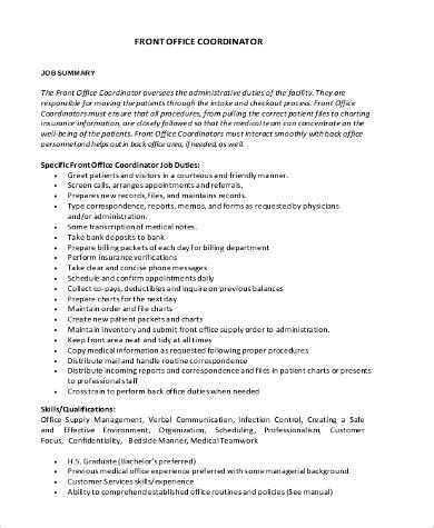 sle coordinator description 9 exles in pdf word