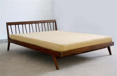modern wood bed frame image of mid century modern platform bed beds