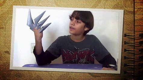 How To Make Paper Freddy Krueger Claws - manual genial do lucas garras de freddy krueger