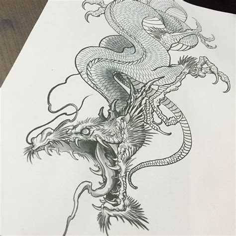 black and grey dragon tattoo designs black and grey chinese dragon tattoo design