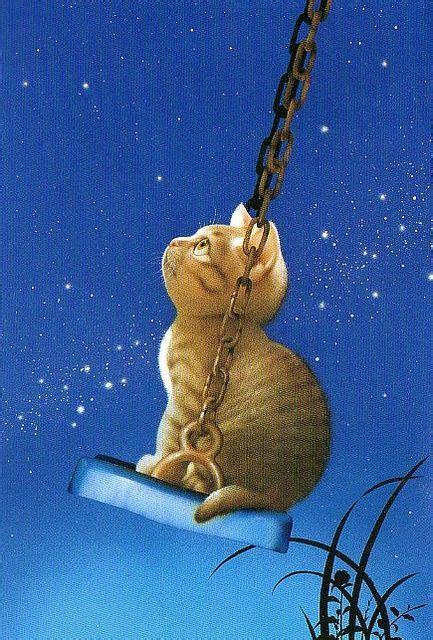 swinging under the stars 252 best cats artwork images on pinterest cat art