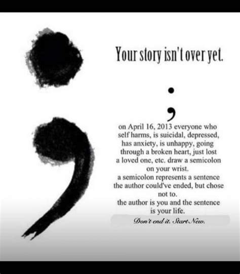semicolon tattoo meaning self harm semicolon project selfharming123456789