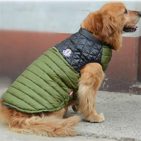 golden retriever jacket 2018 big clothes warm winter vest jacket coat clothing
