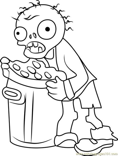 zombie coloring pages pdf trash can zombie coloring page free plants vs zombies