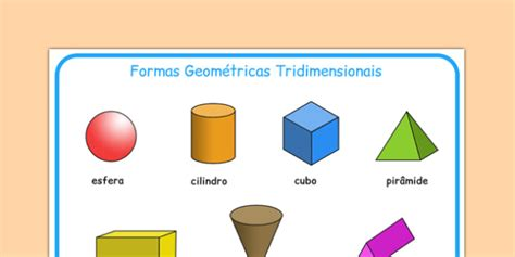 figuras geometricas tridimensionais formas geom 233 tricas tridimensionais portuguese portuguese 3d