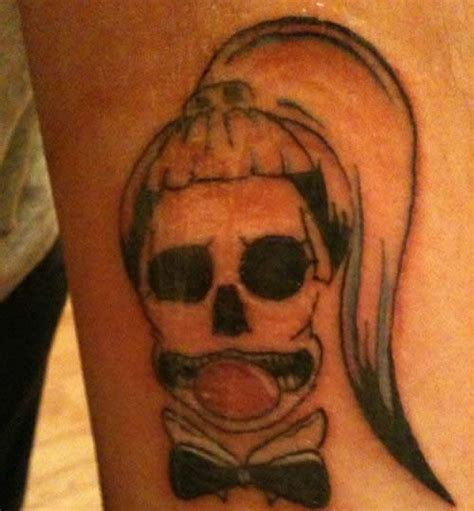 5 cute born this way skull tattoos on lady gaga fans