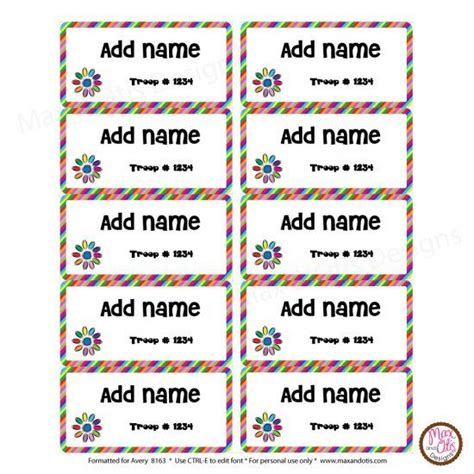 printable girl scout name tags 79 best images about max otis designs printable girl