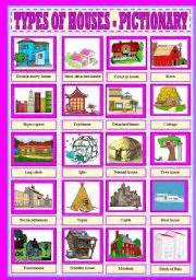 house types in english teaching worksheets types of houses