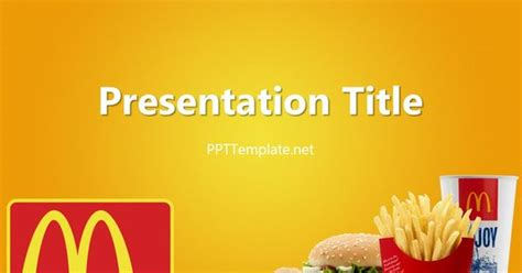 mcdonalds powerpoint template free mcdonald s with logo ppt template food ppt