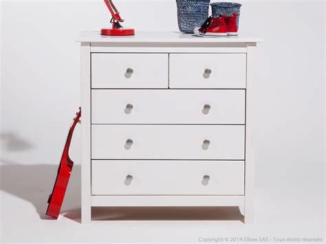 commode avec tiroir commode en bois massif avec 5 tiroirs hauteur 80cm berna