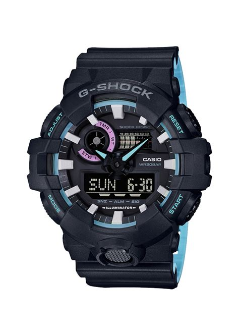 Casio G Shock Ga 700 1ad Original casio g shock original ga 700pc 1aer k 248 b casio ure til