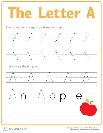 printable letters for 5 year olds practice tracing the letter a worksheets free