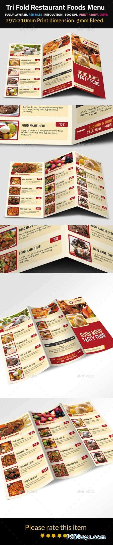 Tri Fold Restaurant Foods Menu 9500024 187 Free Download Photoshop Vector Stock Image Via Torrent Tri Fold Menu Template Photoshop
