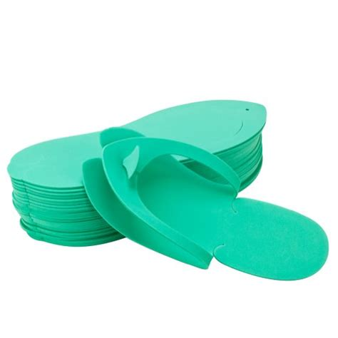 foam flip flop chair disposable pedicure salon green flip flop slipper nail
