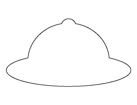 printable hat images safari hat pattern use the printable outline for crafts
