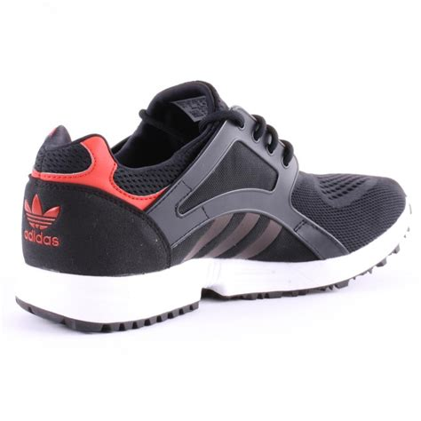 adidas lite racer adidas racer lite em mens trainers in black red