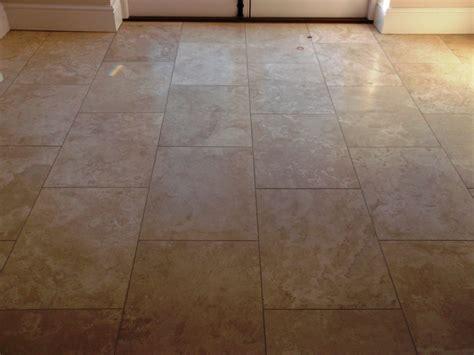 Shiny Tile Floor by Restoring The Shine On A Travertine Floor Tiles In