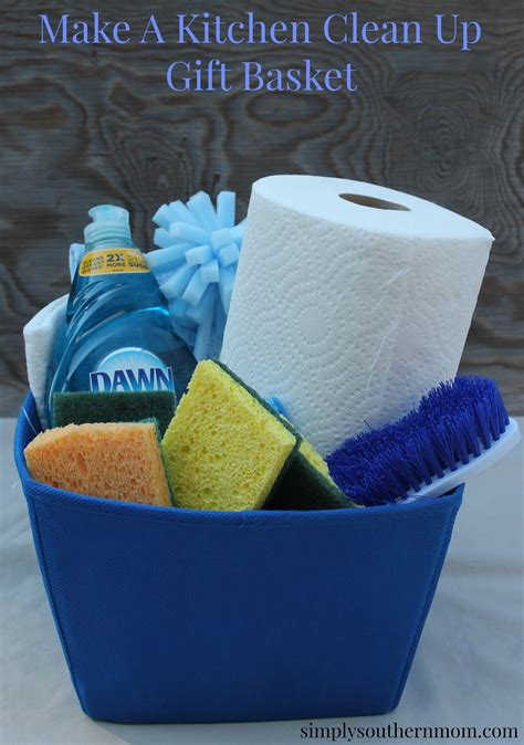 make a kitchen cleaning gift basket simply southern