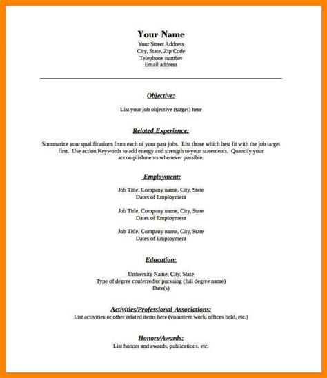 Blank Resume Template by 6 Blank Resume Template Pdf Dialysis