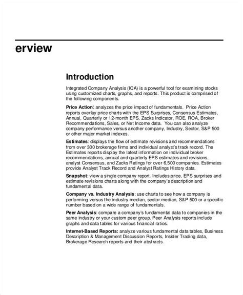 company analysis report template company analysis template 9 award certificates free