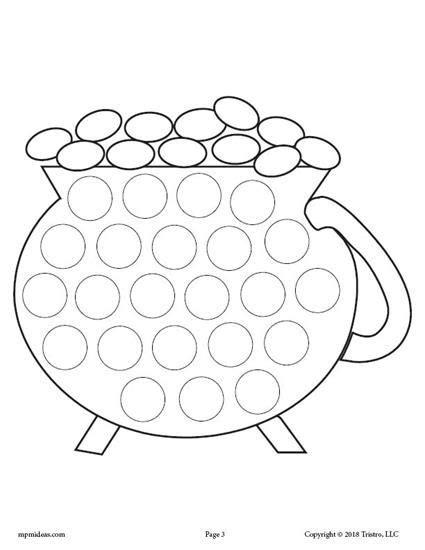 free printable dot to dot shamrock 5 free st patrick s day do a dot printables toddler