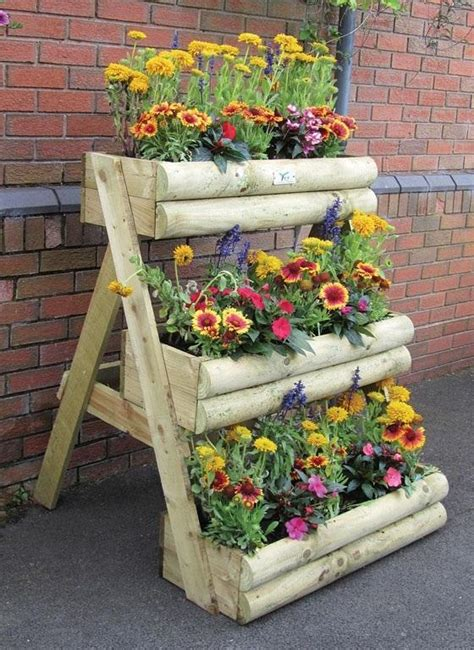 Wooden Garden Planters Ideas multi tier wooden garden planter home design garden