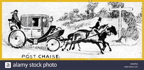 post chaise horse drawn transportation a 1940 s illustration showing