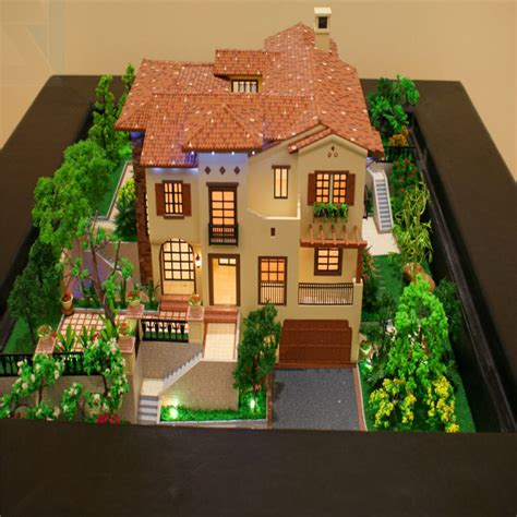 Model Houses With Landscape Led Light Miniature