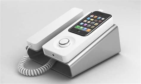 high tech katedra desk that charges your phone nostalgia meets high tech in desk phone dock for iphone