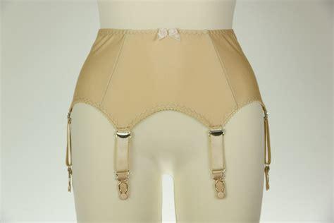 garter belt beige greta retro style garter belt 6 suspender