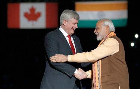 indian prime minister narendra modi delivers remarks to prime minister stephen joined by narendra modi prime minister of india are greeted by