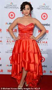 melonie diaz orange is the new black eva longoria is dramatic in leather gown while dania