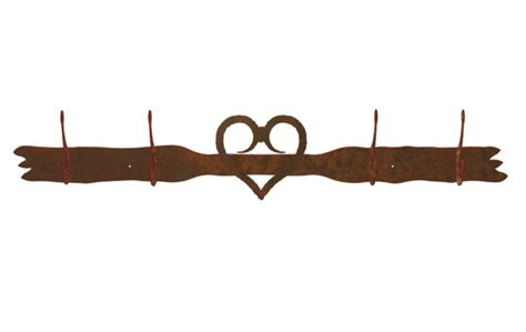 coat hooks and racks heart four hook metal wall coat rack