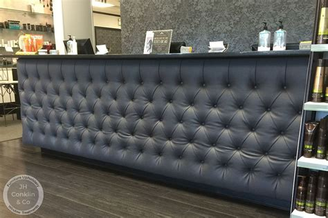 Tufted Salon Reception Desk Nj Styling Salon Upholstery Makeover