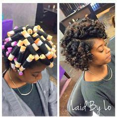 african american hairstyles roller sets perm rods on short relaxed hair hairspiration perm rod