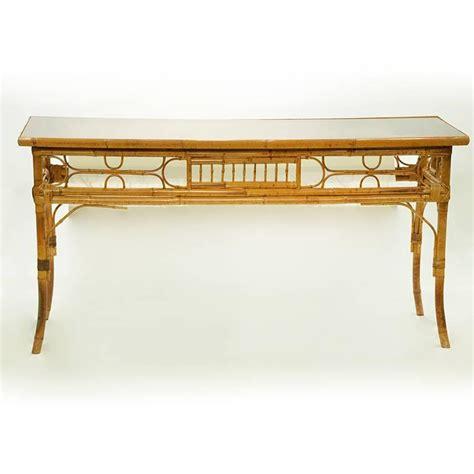 vintage bamboo sofa table vintage bamboo sofa console table at 1stdibs