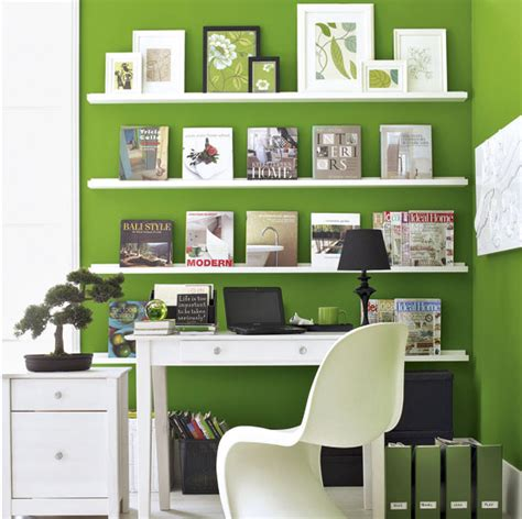 fresh white home office room ideas green home offfice room with bookcase design