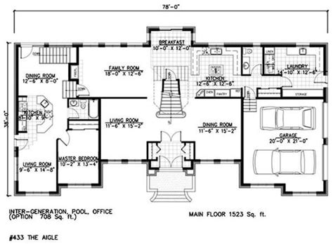 floor plans with in suite house plans with in suites and a in suite floor plans home plan 158