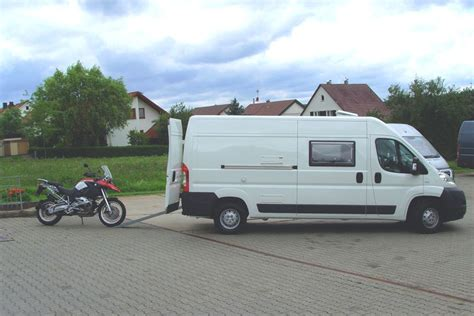 Motorrad Transport Im Wohnmobil by Wohnmobil Motorrad Reisemobil Motocer Transporter
